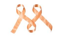 反对癌症丝带的世界天 图库摄影