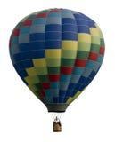 反对白色的热空气气球 库存图片
