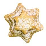 反对白色背景的圣诞节曲奇饼 免版税图库摄影