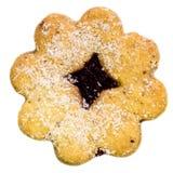 反对白色背景的圣诞节曲奇饼 免版税库存照片