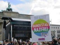反对种族主义柏林22的示范 10 2017年 库存图片