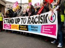 反对种族主义-伦敦,英国的3月 免版税库存图片