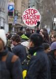 反对种族主义的抗议 库存图片