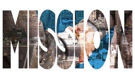反对纽约的使命 免版税图库摄影