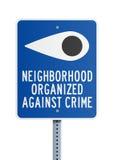 反对罪行的邻里 免版税库存图片