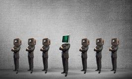 反对老一个的现代技术 图库摄影
