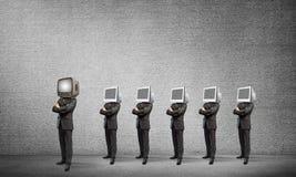 反对老一个的现代技术 免版税图库摄影