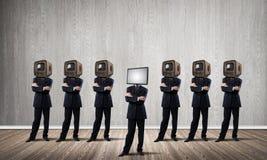 反对老一个的现代技术 免版税库存照片