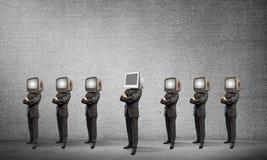 反对老一个的现代技术 库存图片