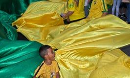 反对联邦政府腐败的抗议在巴西 库存图片