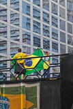 反对联邦政府腐败的抗议在巴西 免版税库存照片