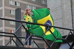 反对联邦政府腐败的抗议在巴西 免版税图库摄影