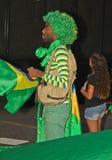 反对联邦政府腐败的抗议在巴西 图库摄影