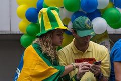 反对联邦政府腐败的抗议在巴西 库存照片