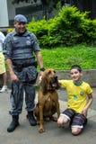 反对联邦政府腐败巴西的抗议 库存图片