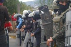 反对胡安奥兰多埃尔南德斯洪都拉斯1月21的改选的日抗议游行2018 11日 库存照片