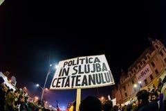 反对腐败的示范在布加勒斯特 免版税库存图片