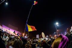 反对腐败的示范在布加勒斯特 免版税图库摄影
