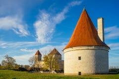 反对蓝天和云彩的库雷萨雷城堡 库存图片