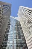 反对蓝天的摩天大楼在北京中心,中国 库存图片