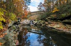 反对8月峡谷在秋天 免版税库存照片