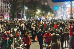反对总理的抗议 图库摄影