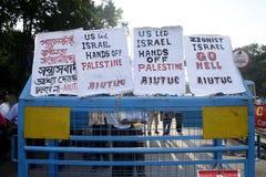 反对以色列的海报 免版税库存图片