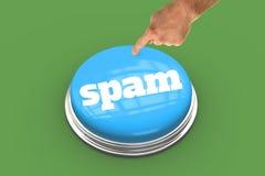 反对绿色小插图的垃圾短信 库存照片