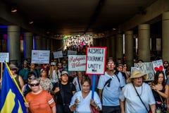 反对Racsim图森的3月 免版税图库摄影