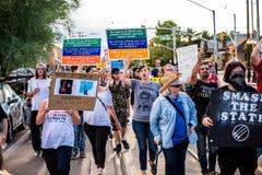 反对Racsim图森的3月 免版税库存照片