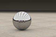 反射不同的球的金属球特写镜头 免版税库存照片