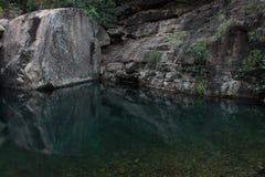 反射在埃玛峡谷, Kimberleys 免版税库存照片