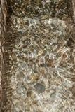 反射在用不同的小卵石的透明水中 免版税库存照片