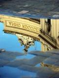 反射在翁贝托中水我画廊在那不勒斯,意大利 库存照片