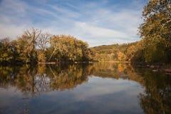 反射在Shenandoah河的树 图库摄影