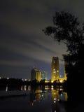 反射城市 库存照片