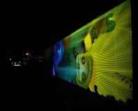 反射学习-交互式编辑-扎卡里Liebermanon信号节日布拉格 免版税库存照片