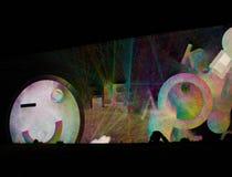 反射学习-交互式编辑-扎卡里Liebermanon信号节日布拉格 库存照片