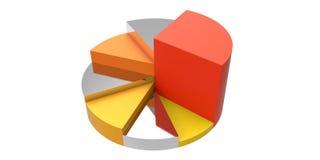 反射性圆形统计图表 免版税库存照片