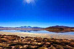 反射性的湖 库存图片