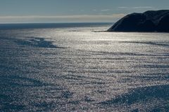 反射海水的阳光 库存照片