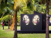 反射的面孔,圣保罗 免版税图库摄影