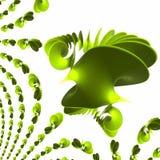 反射螺旋通知的绿色塑料波兰 免版税库存照片