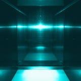 反射金属表面的蓝色 技术纹理和背景 产业概念 库存照片