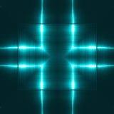 反射金属表面的蓝色 技术纹理和背景 产业概念 免版税库存照片