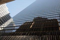 反射,曼哈顿 免版税库存照片