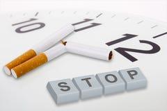 反市场活动抽烟 免版税图库摄影