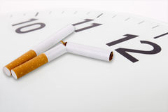 反市场活动抽烟 库存照片