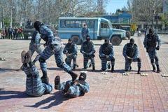 反恐怖主义者的展示 免版税库存照片