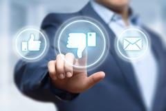 反感社会按钮反馈企业互联网概念 免版税库存照片
